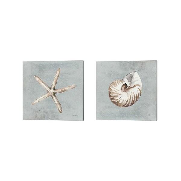 Lisa Audit 'Sand and Seashells B' Canvas Art (Set of 2)