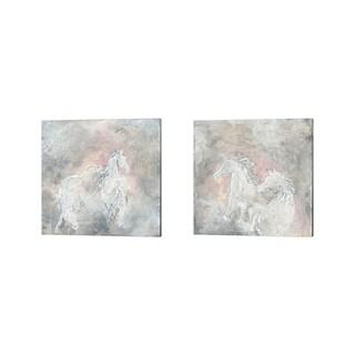 Chris Paschke 'Blush Horses' Canvas Art (Set of 2)