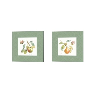 Lisa Audit 'Orchard Bloom Border A' Canvas Art (Set of 2)
