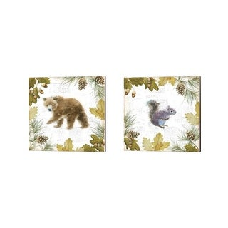 Emily Adams 'Into the Woods C' Canvas Art (Set of 2)