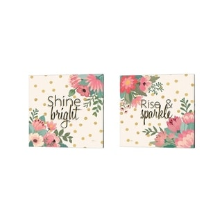 Janelle Penner 'Gorgeous Pink A' Canvas Art (Set of 2)