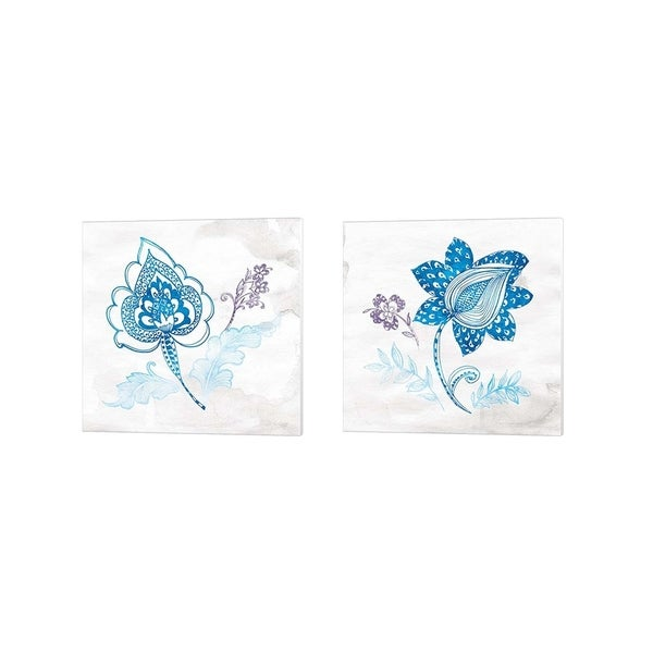 Wild Apple Portfolio 'Eastern Boho Peacock Blue' Canvas Art (Set of 2)