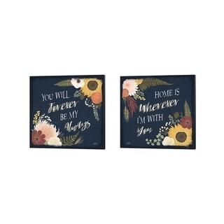 Laura Marshall 'Autumn Romance A' Canvas Art (Set of 2)
