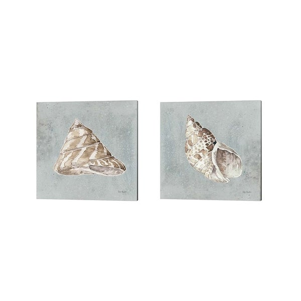 Lisa Audit 'Sand and Seashells A' Canvas Art (Set of 2)