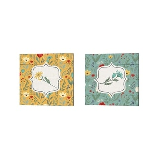 Janelle Penner 'Blooming Thoughts Flower' Canvas Art (Set of 2)