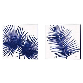 Porch & Den Janelle Penner 'Welcome to Paradise Indigo B' Canvas Art (Set of 2)