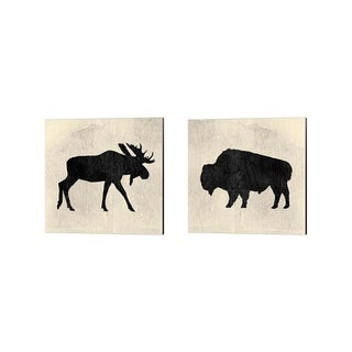James Wiens 'Neutral Lodge v2' Canvas Art (Set of 2)