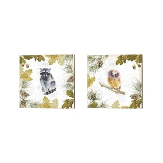 Emily Adams 'Into the Woods A' Canvas Art (Set of 2)