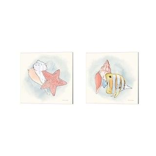 Sara Zieve Miller 'Sea Life' Canvas Art (Set of 2)