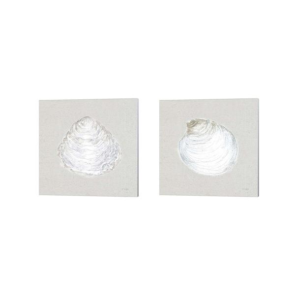 James Wiens 'Serene Shells Tan' Canvas Art (Set of 2)