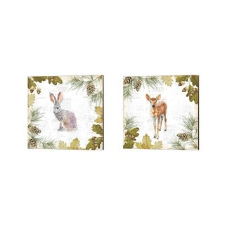 Emily Adams 'Into the Woods B' Canvas Art (Set of 2)