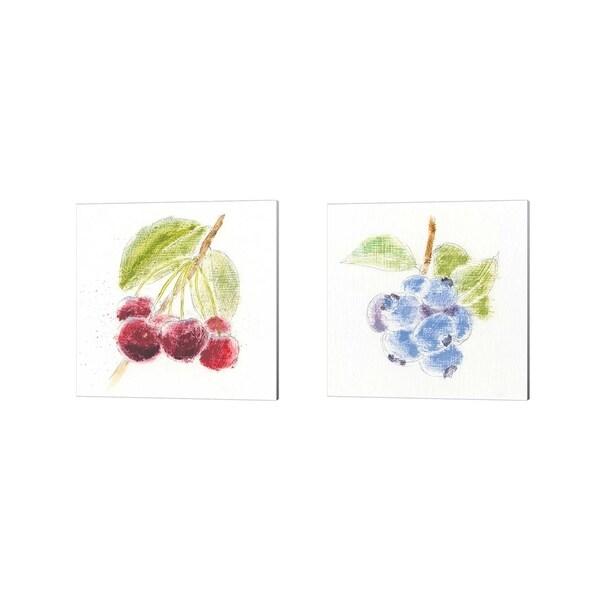 Emily Adams 'Garden Delight A' Canvas Art (Set of 2)