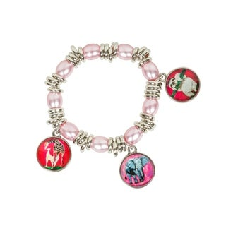 Pink Animal Charm Bracelet