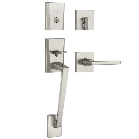 Kwikset 98180-003 Satin Nickel Single Cylinder Entry Handleset