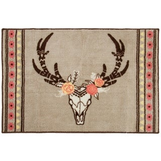 HiEnd Accents Skull/Floral Printed Rug, 24x36 - 24 x 36
