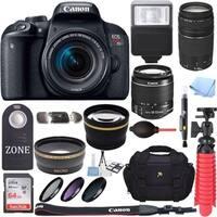 Canon EOS Rebel T7i DSLR Camera w/18-55mm & 75-300mm lens & 64GB Premium Accessory Bundle