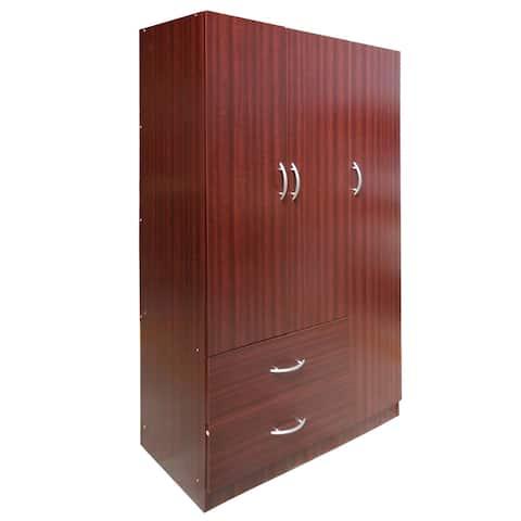Astonishing Buy Mahogany Finish Armoires Wardrobe Closets Online At Beutiful Home Inspiration Ommitmahrainfo