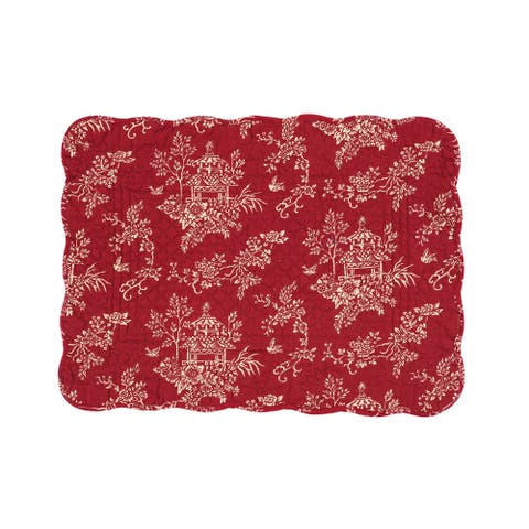 Raquel Cotton Quilted Placemat Set of 6