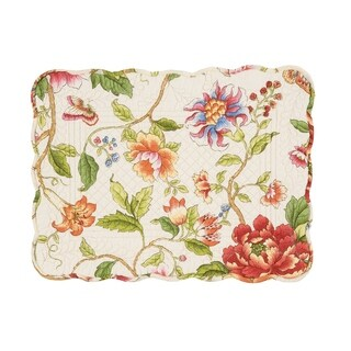 Kailey Cotton Quilted Placemat Set of 6 - N/A