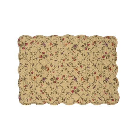 Annamae Cotton Quilted Placemat Set of 6