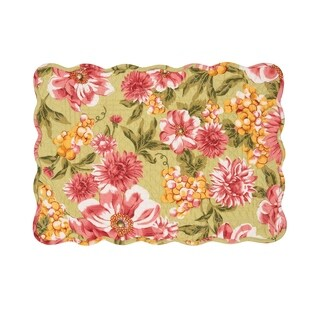 Ansley Cotton Quilted Placemat Set of 6 - N/A