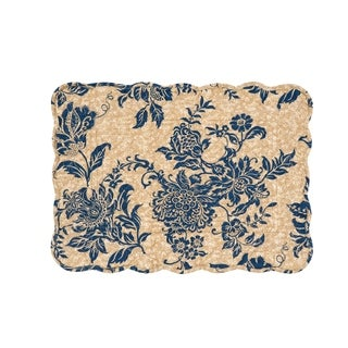 Clarissa Cotton Quilted Placemat Set of 6 - N/A