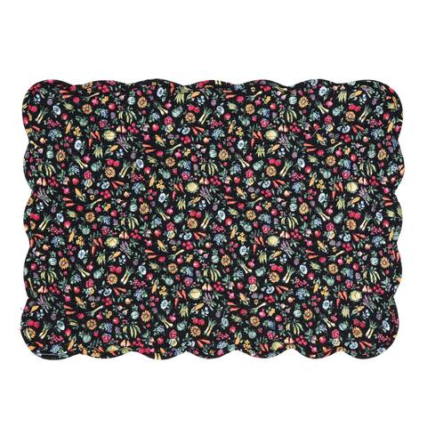 Janelle Cotton Quilted Placemat Set of 6