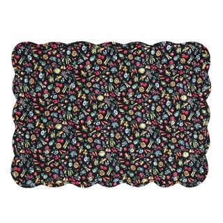 Janelle Cotton Quilted Placemat Set of 6 - N/A