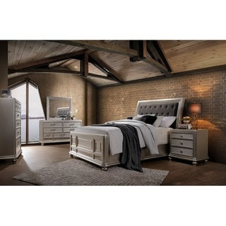 Home Source Amina Champagne 6 Piece King Bedroom Set