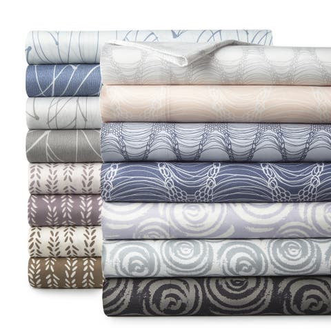 Vilano Choice Ultra-Soft Premium Printed 4-piece Bed Sheet Sets