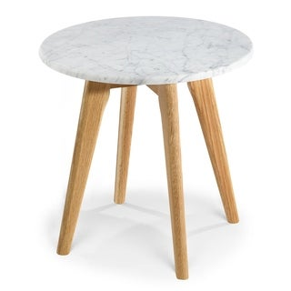 Poly and Bark Riley Marble Round Side Table