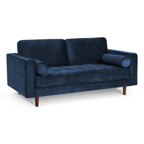 Shop Poly And Bark Inga 72 Inch Apartment Sofa With Velvet In Space