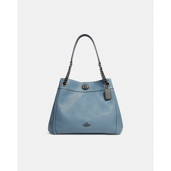 Shop Coach Turnlock Edie Shoulder Bag Chambray - Free Shipping Today -  Overstock - 25614207 7412f66c9d6dd