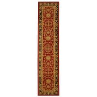 Safavieh Handmade Anatolia Oriental Oushak Traditional Red Hand-spun Wool Runner (2'3 x 12')
