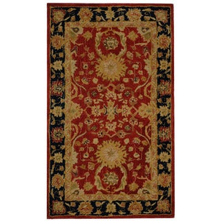 Safavieh Handmade Anatolia Oriental Oushak Traditional Red Hand-spun Wool Rug (3' x 5')