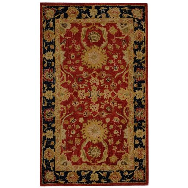 Safavieh Handmade Oushak Traditional Red Wool Rug (3' x 5')