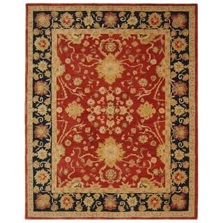 Safavieh Handmade Oushak Traditional Red Wool Rug (6' x 9')
