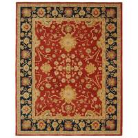Safavieh Handmade Anatolia Oriental Oushak Traditional Red Hand-spun Wool Rug (8' x 10')