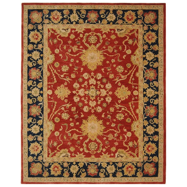 Safavieh Handmade Oushak Traditional Red Wool Rug (8' x 10')