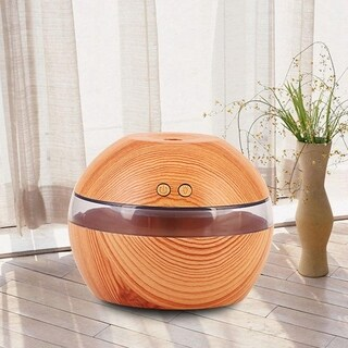 Mini Humidifier Wood Grain LED Ultrasonic Humidifier Small Night Light USB Aromatherapy
