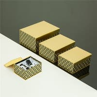 Glitzhome Christmas Holiday Wedding Glitter Gift Box Set