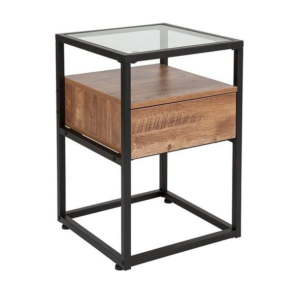 Shop Offex Ultra Modern Contemporary Glass End Table With