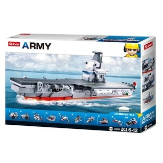Sluban Kids Army Aircraft Building Blocks 361 Pcs set Building Toy 10 in 1 Army Fighter Jet SLU08639