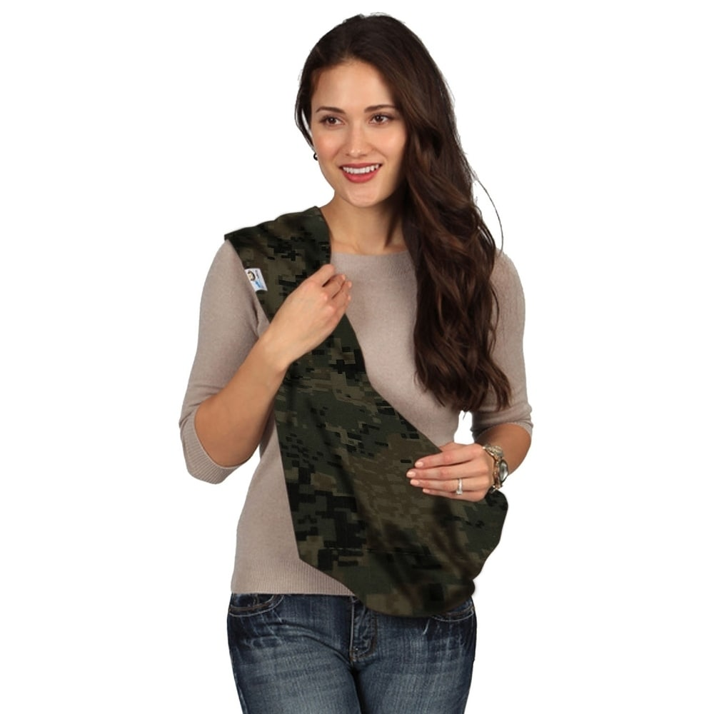 Infants and Toddlers Upto 3 Years Small HugaMonkey Camouflage Military Baby Sling Wrap Carrier for Newborn Babies Green and Black