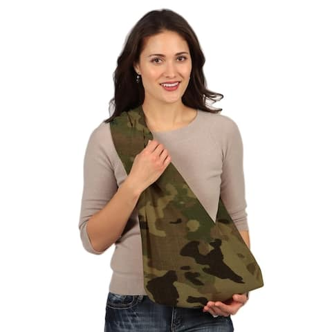 HugaMonkey Camouflage Military BabySling Wrap Carrier for Newborn Babies, Infants and Toddlers upto 3 Years - Light Green, Small