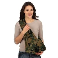 HugaMonkey Camouflage Green and Black Military Baby Sling - Small