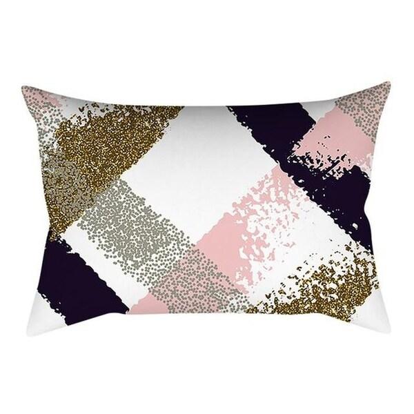 Pink Small Fresh Printing Square Pillowcase 20997428-200