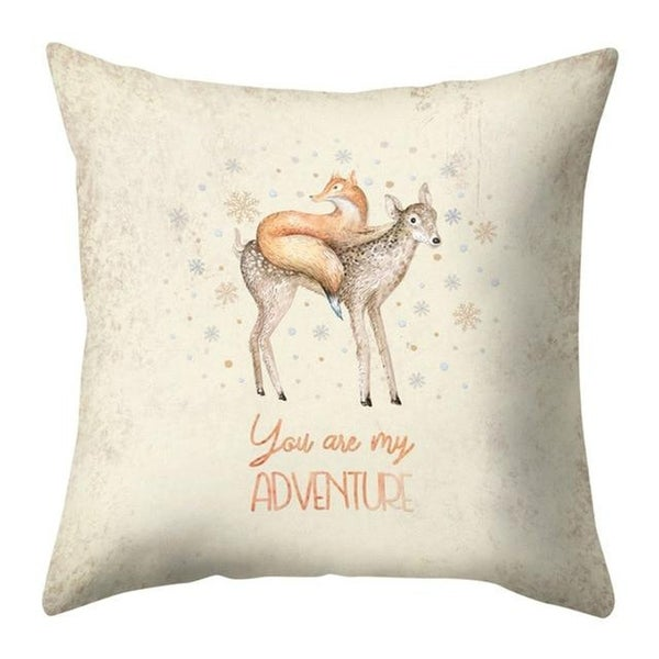 Merry Christmas Throw Pillow Case Elk pattern 21297552-338