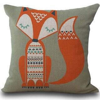 Fox Print Sofa Bed Home Decoration Pillow Case  21297735-368