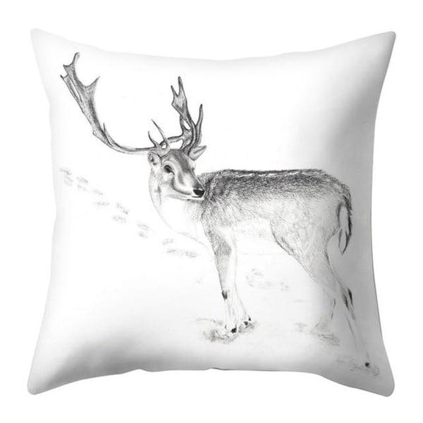 Merry Christmas Throw Pillow Case Elk pattern 21297552-346